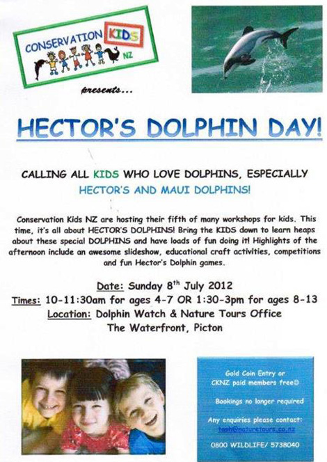Hector's Dolphin Day, July the 8th
